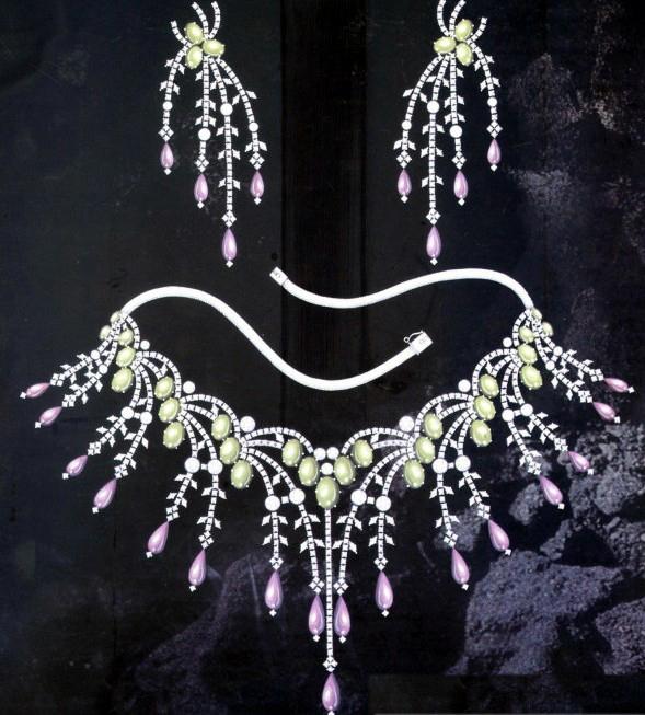 项链手绘图_姚明召的珠宝设计师艺廊