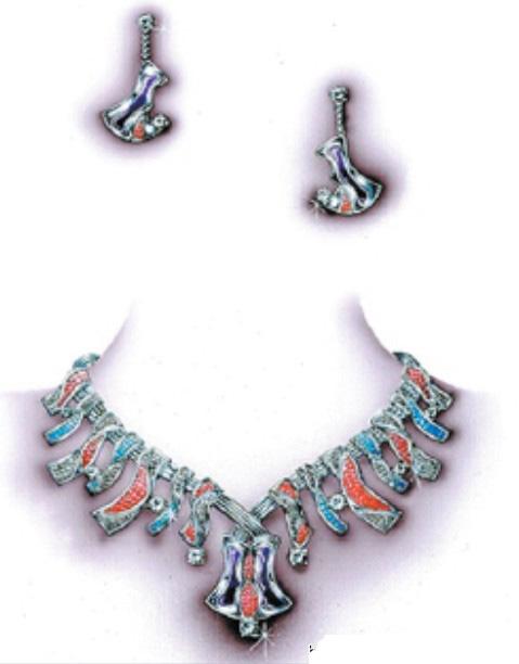套链手绘图欣赏之二_姚明召的珠宝设计师艺廊