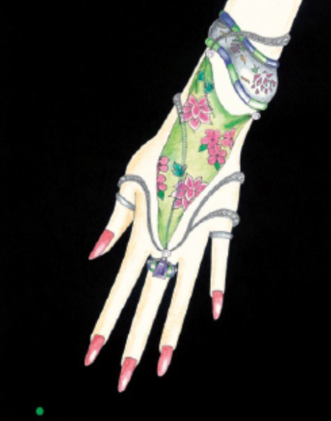 珠宝手绘图欣赏5_姚明召的珠宝设计师艺廊