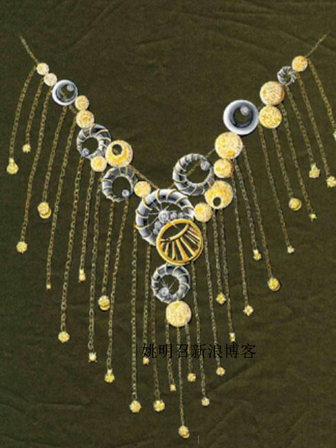 珠宝手绘图欣赏6_姚明召的珠宝设计师艺廊