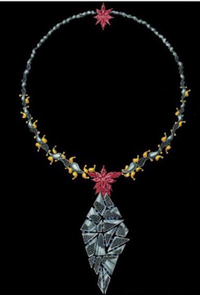 套链手绘图欣赏之三_姚明召的珠宝设计师艺廊