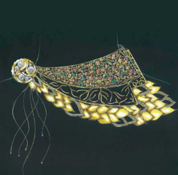珠宝手绘图欣赏7_姚明召的珠宝设计师艺廊