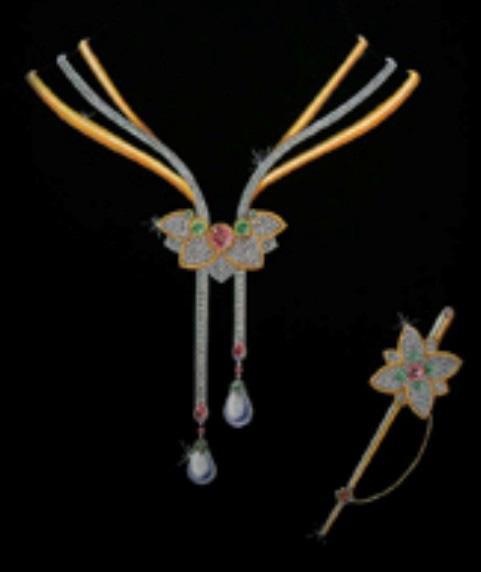 珠宝手绘图欣赏8_姚明召的珠宝设计师艺廊