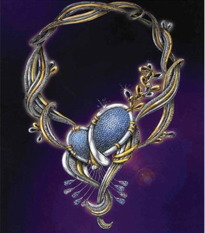 套链手绘图欣赏_姚明召的珠宝设计师艺廊; 首饰设计手绘图; miss