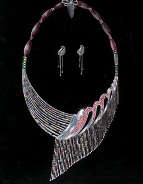 姚明召珠宝设计师艺廊;; [转载]珠宝手绘图10; 珠宝翡翠橱窗效果图