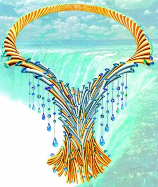 珠宝手绘图欣赏11_姚明召的珠宝设计师艺廊