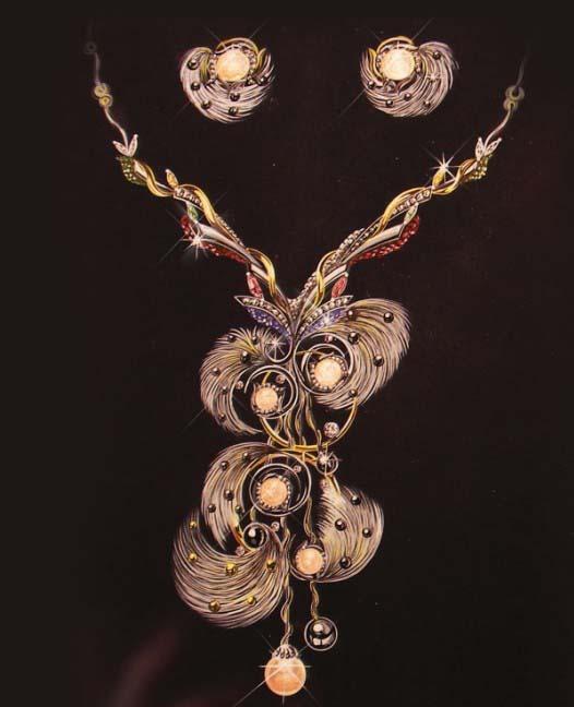 大师珠宝手绘设计图展示