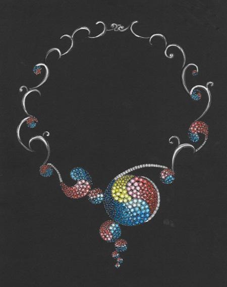 [转载]珠宝手绘图12; 创意首饰设计手绘图;
