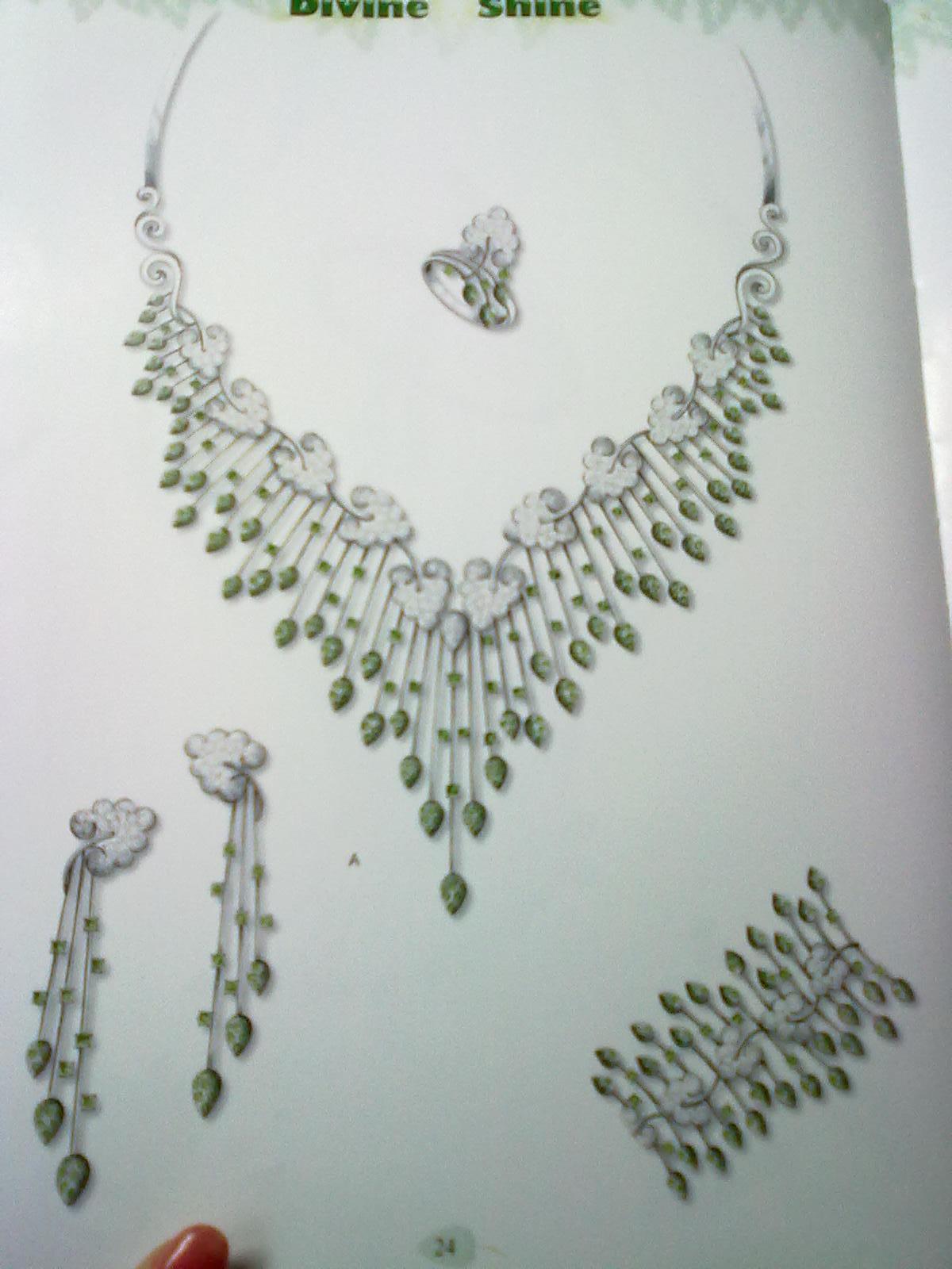 国外手绘设计作品----拍的有点模糊_曾建华的珠宝设计