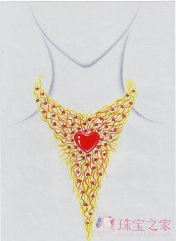 超棒的原创手绘图 - 珠宝设计师 - 钻石.