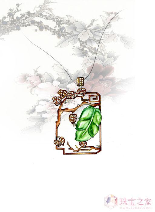 中国元素之翡翠镶嵌类创意U乐娱乐官网作品