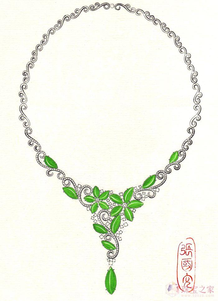 翡翠项链_张国文的珠宝设计师艺廊