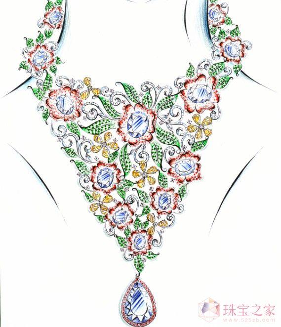 彩宝饰界 手绘图
