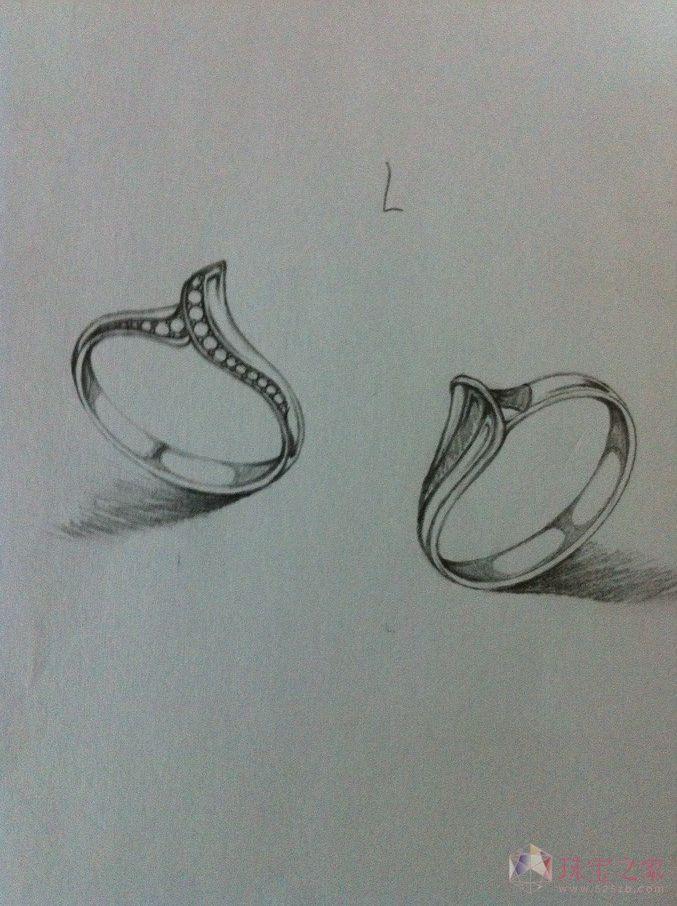 简单戒指手绘设计图展示