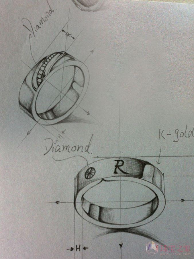 素描图有哪些  珠宝设计师的经历问:楼主男,对珠宝首饰的设计很有兴趣