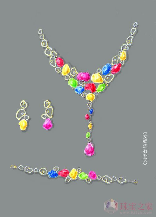 k金戒指_《女娲炼石补天》_王一斐的珠宝设计师艺廊