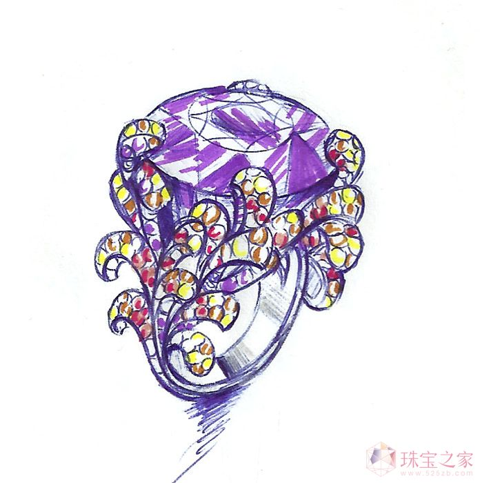 珠宝手绘           款式