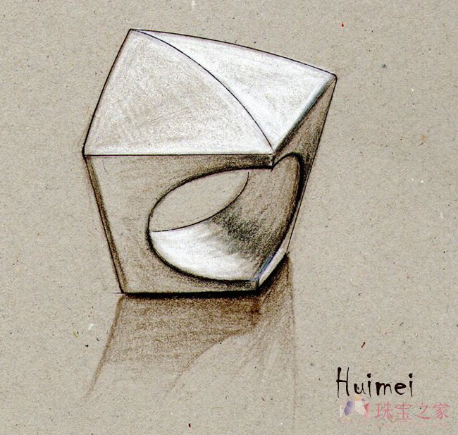 几何体           款式: 戒指 材质: k金  作品集: 手绘作品 日期