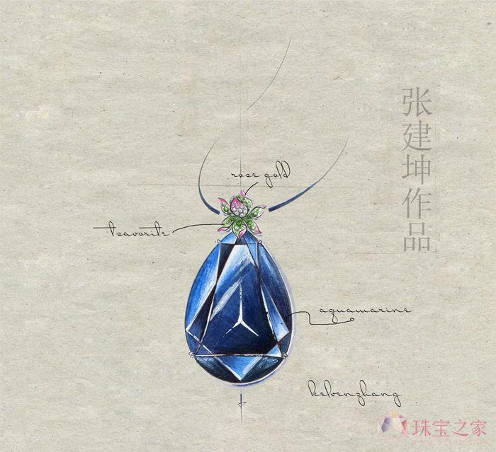 百年好合 手绘珠宝设计张建坤_张建坤的珠宝设计师艺廊