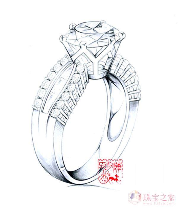 手绘钻戒2_陈功的珠宝设计师艺廊